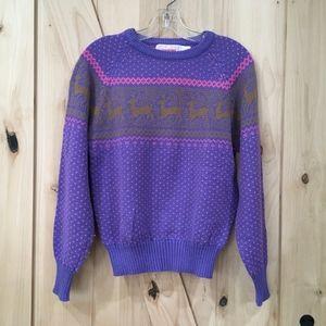 Vintage Reindeer Christmas Sweater size Medium